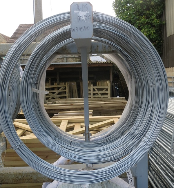 2 5mm Diameter Plain Galvanised Line Wire Hartwells Fencing