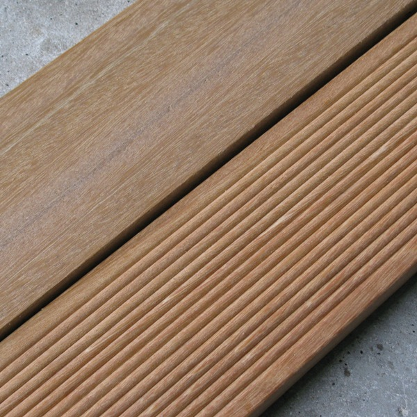 Yellow Hardwood Boards ~ Ribbed smooth timber decking board hartwells fencing