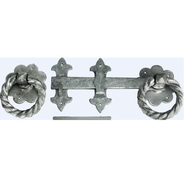 Large ornamental ring latch