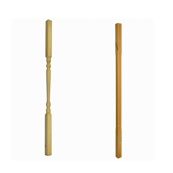 Colonial Spindle (left) Chamfered Spindle (right)