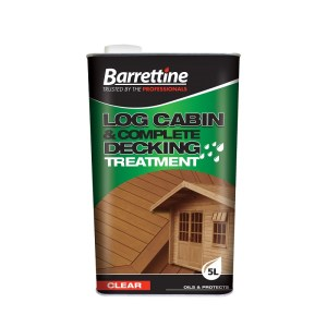 Log Cabin and Complete Decking Treatment
