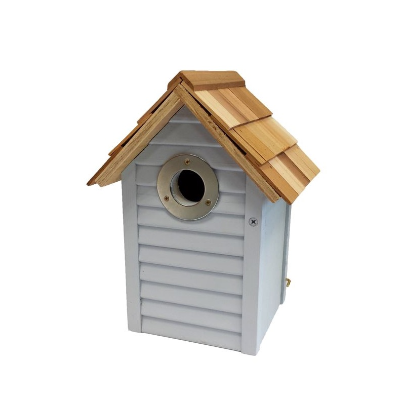 Beach Hut Nest Box - Blue