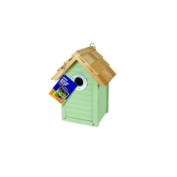 Beach Hut Nest Box Green