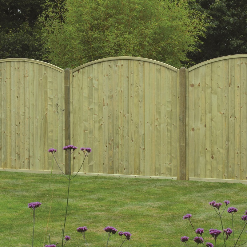 Tongue And Groove Arched Top Panel Hartwells Fencing