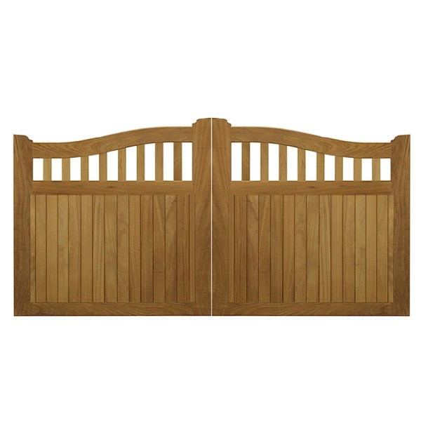 Beckington Entrance Gates in Iroko