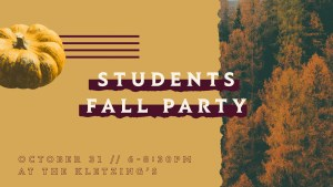 Students Fall Party