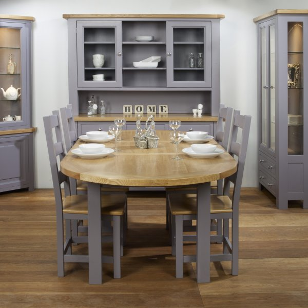Charltons Bretagne Painted  Lacquered Oak Oval Extending