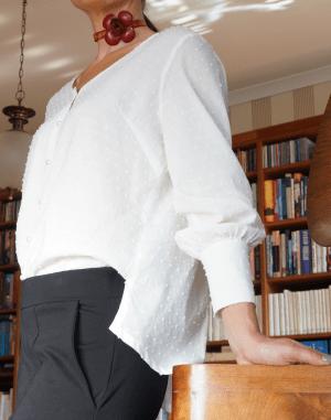cotton blouse white 2