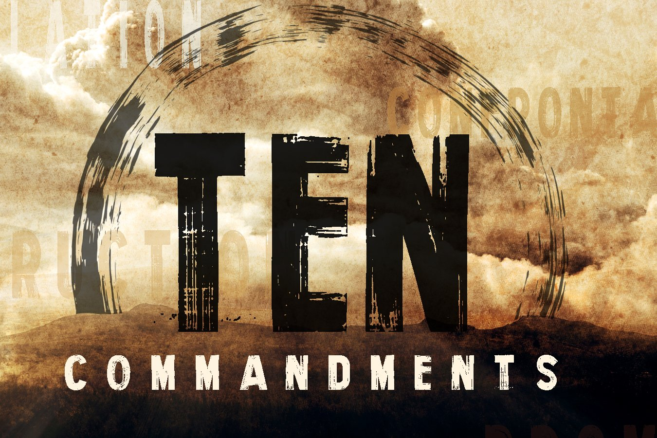 Ten Commandments No Other Gods