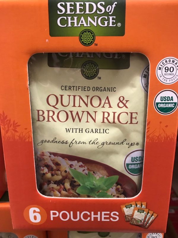 Seeds Of Change Quinoa Brown Rice With Garlic Individual