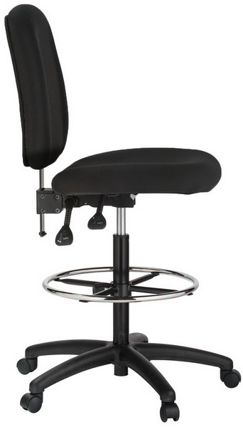 drafting chairs with arms oversized saucer chair and office furniture harwick contoured stool 100ke bk 4 600