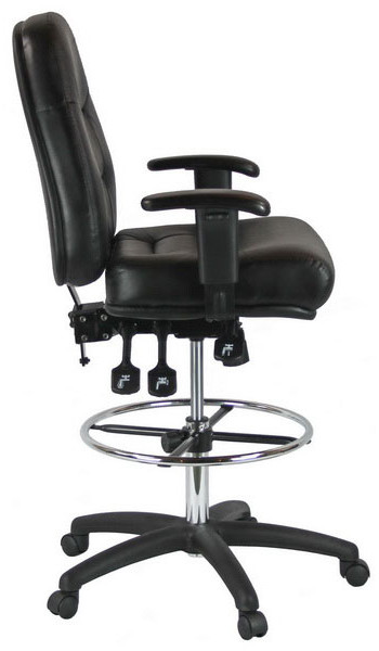drafting chairs with arms white outdoor rocking chair canada and office furniture harwick adjustable leather 100kl 2 600