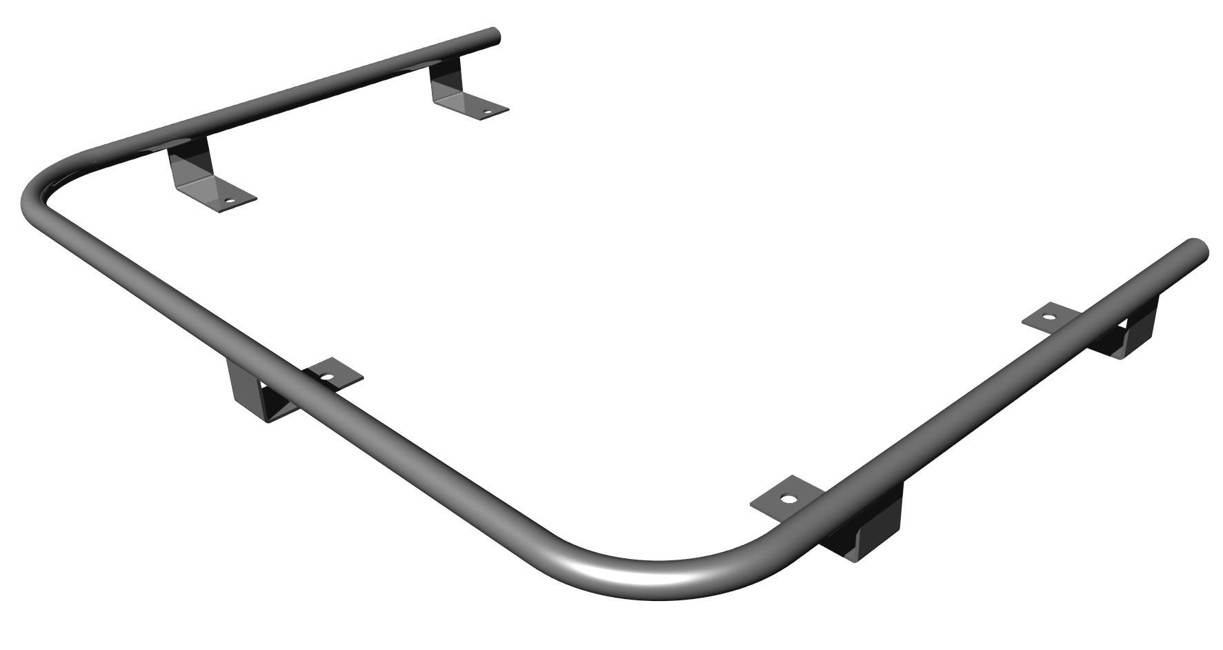 Fiddle Rail Kit Chrome For Back Cabin Cooker