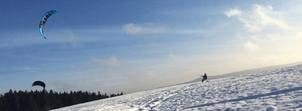 Snowkiten im Harz