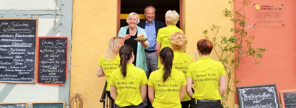 Beim Café Am Finkenherd wird Freundlichkeit groß geschrieben ©Alina Lipka