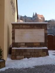 Bild: Tafel zum Gedenken an Franz Wilhelm Junghuhn in Mansfeld.