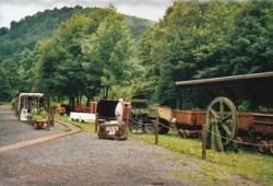 Bild: Im Übertagebereich des Besucherbergwerkes Rabensteiner Stollen bei Ilfeld im Harz.