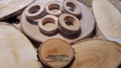 Serviettenringe aus Holz