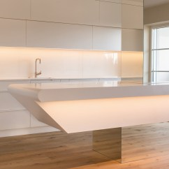 Kitchen Counter Solutions Moen Faucet Parts Diagram Corian In Floating Appearance | Hasenkopf