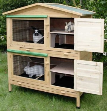 Das Kerbl Kaninchenhaus Kaninchenstall Appartement - Kaninchenstall für innen.