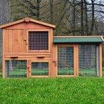 ► ZooPrimus Kaninchenstall Hasenstall Nr 01 HASENVILLA [145cm x 53cm x 86cm]