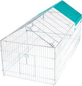 Das Kerbl großes Freilaufgehege verzinkt mit Sonnenschutz ist ein großes Freilaufgehege für Hasen und Kaninchen.