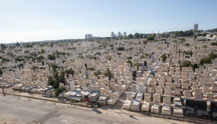 Holon Cemetery.