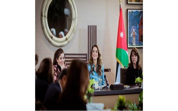 الملكة رانيا : تطوير المناهج يجب ألا يختزل بعناصر محددة