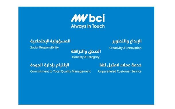 BCI تحصد أعلى درجة لخدمة العملاء في الشرق الأوسط