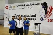 شنك ومنصور يحرزان فضية بطولة مصر الدولية للريشة الطائرة