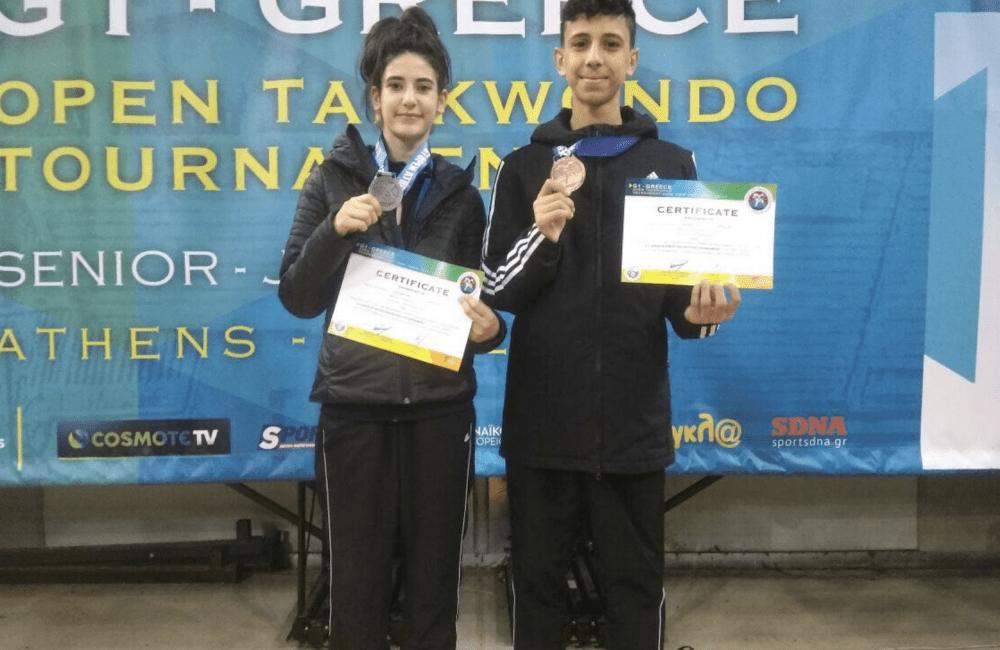 منتخب التايكواندو يحرز فضية وبرونزية في افتتاح مشاركته ببطولة اليونان