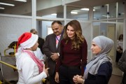 الملكة رانيا تطلع على الخدمات المجتمعية في مركز سيدة السلام للأشخاص ذوي الإعاقة