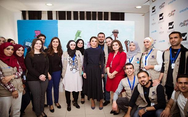 الملكة رانيا تطلق المعرض المتنقل لمشروع مختبرات الابتكار الاجتماعي