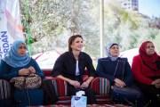 الملكة رانيا تشارك في جزء من مسار درب الأردن بقرية الرميمين