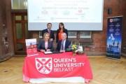اتفاق تعاون بين كلية طلال أبوغزاله الجامعية للإبداع وجامعة كوينز بلفست البريطانية