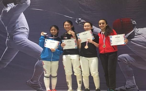 رؤى المجالي تحرز الميدالية البرونزية في بطولة تايلاند