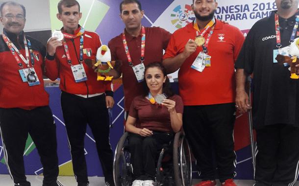 ذهبية وفضيتين حصيلة المشاركة الأردنية في دورة الألعاب البارالمبية الآسيوية