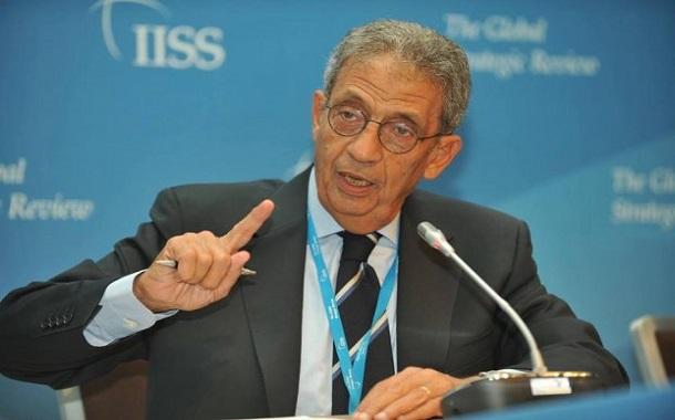 أمين عام جامعة الدول العربية الأسبق عمرو موسى يحاضر بمنتدى شومان