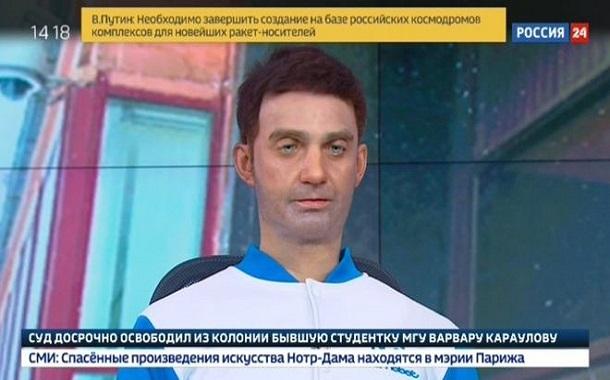 روبوت يحتل مقعد المذيع في قناة إخبارية روسية