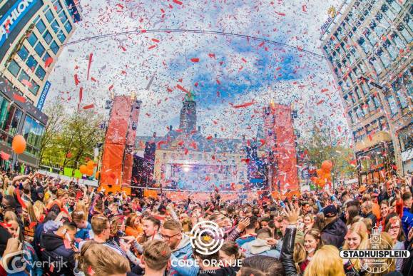 Stadhuisplein during Kingsday is a spectacle in itself
