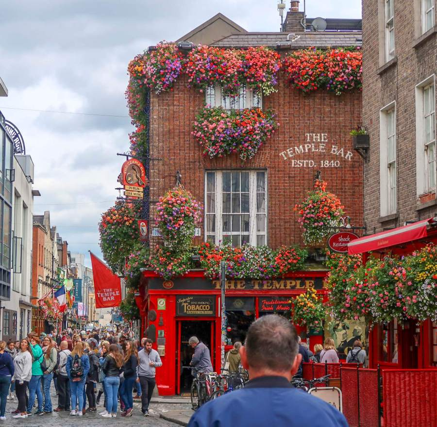 Temple Bar is the most popular nightlife area among tourists in Dublin. This bar is probably the most striking in Temple Bar, Dublin.
