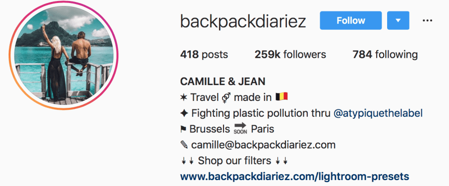 Travel Instagrammers backpackdiariez are among my top 10 favourite travel instagrammers.
