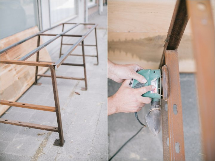 Upcycling oude werkbank