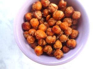 Sweet + Salty Roasted Chickpeas