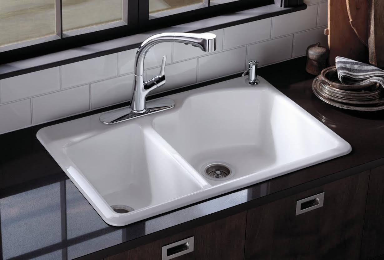 sink for kitchen antique grey cabinets picking the right your remodel haskell s blog