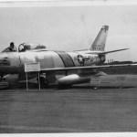 F-86セイバー戦闘機(米軍) 第1回航空記念日に飛来した機体。
