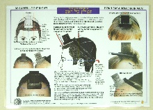 Laminated chart showing how to put on Tefillin Shel Rosh