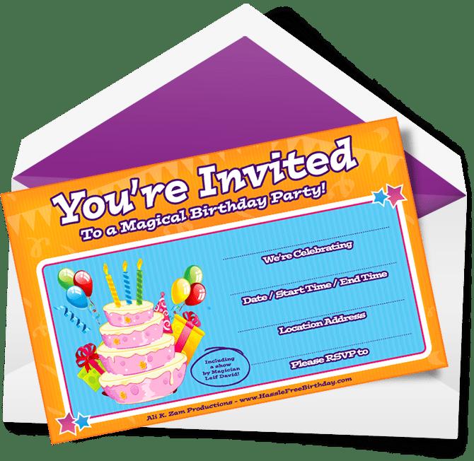 birthday party invitations kelowna