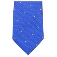 Blue Orange Spot Tie - 70% Wool and 30% Silk