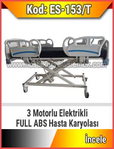 3 Motorlu Full Abs Asansörlü Hasta Karyolası